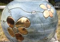 rev vase rund m blomst-1