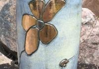 rev vase slank m blomst lyseblå-1