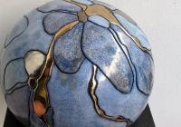 stor gobbel m. blomst 24x18 rev